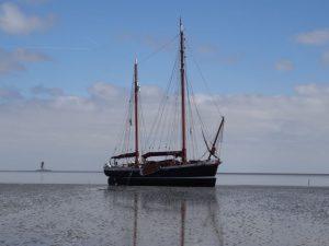 Weserkahn Franzius auf Wattenmeersafari in der Nordsee