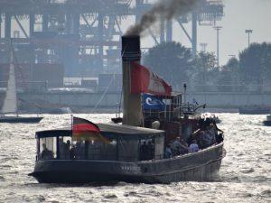 Dampfschiff Hamburger Hafen