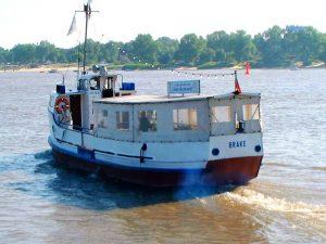 Schifffahrt zur Weserinsel Harriersand