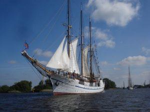Segelschiff Großherzogin Elisabeth auf der Unterweser