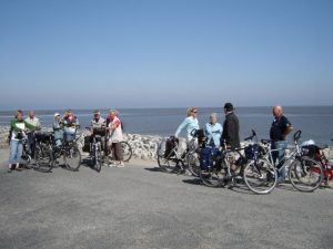 Radfahrer an der Nordsee