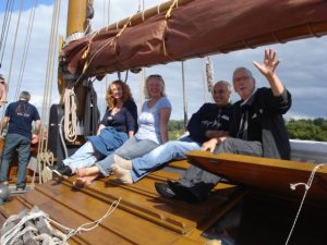Familienfeier Segelschiff Franzius