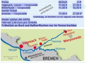Preise Schifffahrt Worpswede